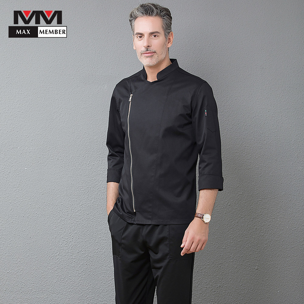 2018 New Catering Top Restaurant Hotel Professional Long Sleeve Zipper Chef Jackets Cozinha Cocina Clothing Waiter Work Uniforms