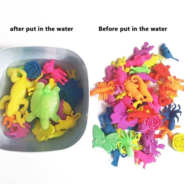 10 pc Melhor Magia Hidrogel Contas de Água Em Forma de Animais Dinossauro Animal Selvagem Dragão Do Mar Bola Crianças brinquedo Crescente de Água em casa decoração
