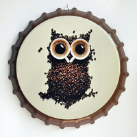 Tin Sign owl Vintage Metal Painting Beer Cover Cafe Bar Hanging Ornaments Wallpaper Decor Plates Retro Mural