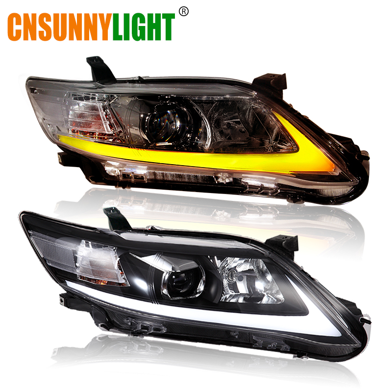 CNSUNNYLIGHT For Toyota Camry V40 2009/2010/2011 Car Headlights Assembly W/ LED DRL Turn Signal Lights Plug & Play Head Lights