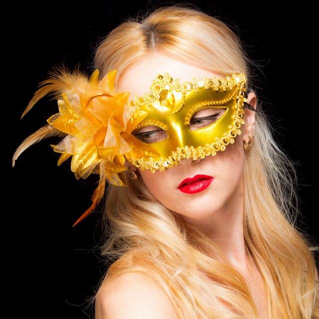 1pcs/ new fashion princess side flower Venetian mask masquerade party dress up props Christmas Supplies Halloween Half Face Mask