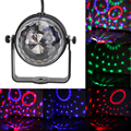 Profissional rgb led cristal mágico girando luz do estágio bola high-power led rgb party light stage disco luz som ativo