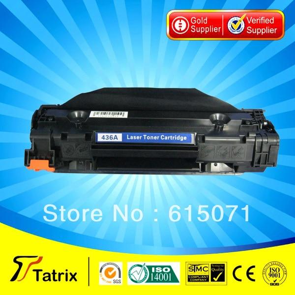 ФОТО Black CB436A Toner Cartridge Compatible CB436A Cartridge Toner for HP Free Shipping
