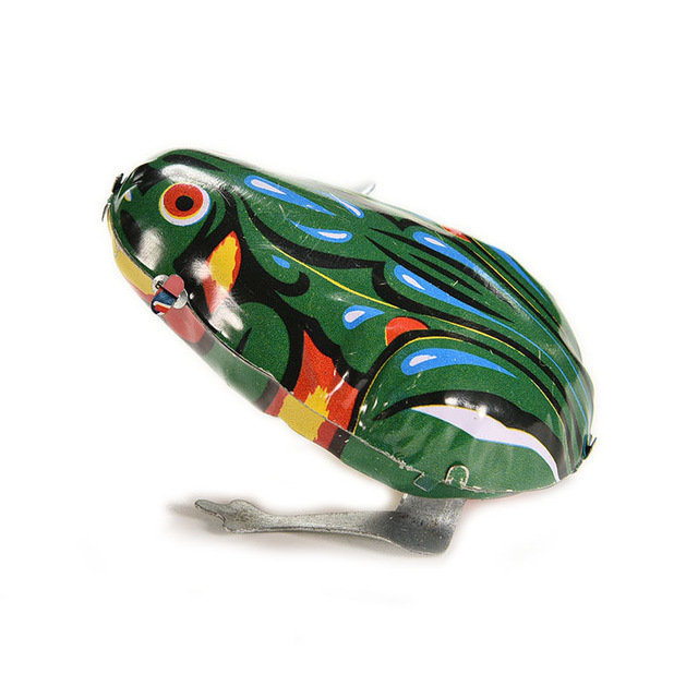 NEW Vintage Metal Wind-up Jumping for Frog Model Clockwork Tin Toys Collectible Classic Education Toys Gift For Children