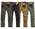 green khaki black retrol straight cargo pockets mans pants pantalon de algodon military trousers free shipping