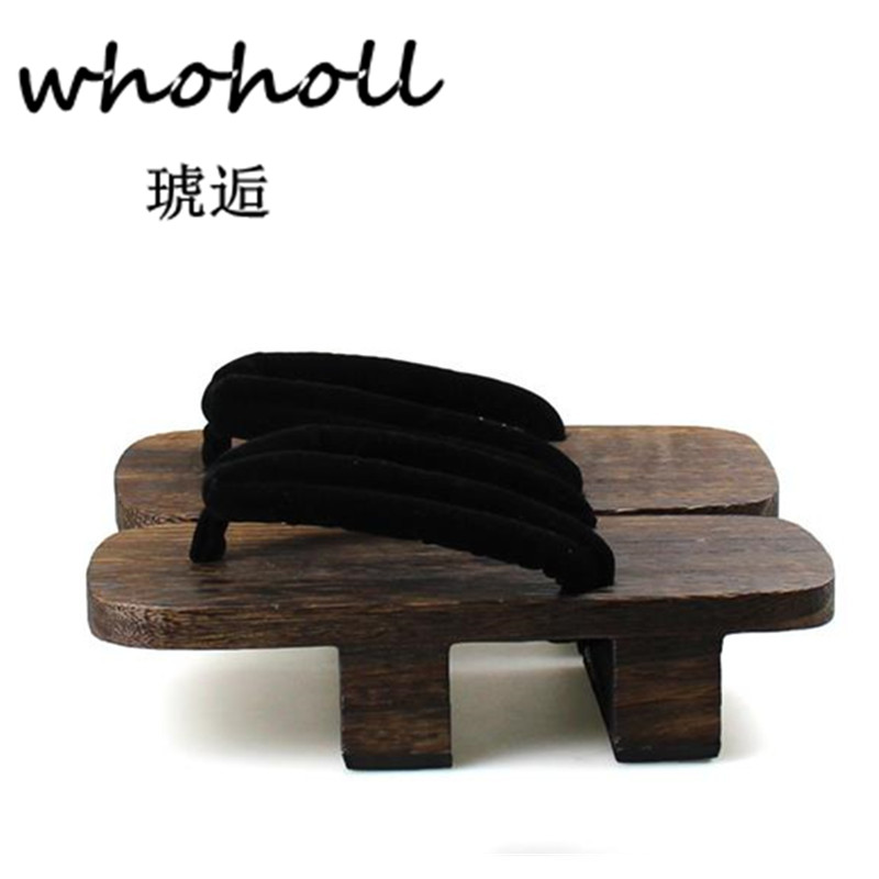 WHOHOLL  Flip-flops men platform Sandals Heel Japanese Geta Clogs Wooden paulownia Slippers anime cosplay shoes sandalias hombreWHOHOLL  Flip-flops men platform Sandals Heel Japanese Geta Clogs Wooden paulownia Slippers anime cosplay shoes sandalias hombre