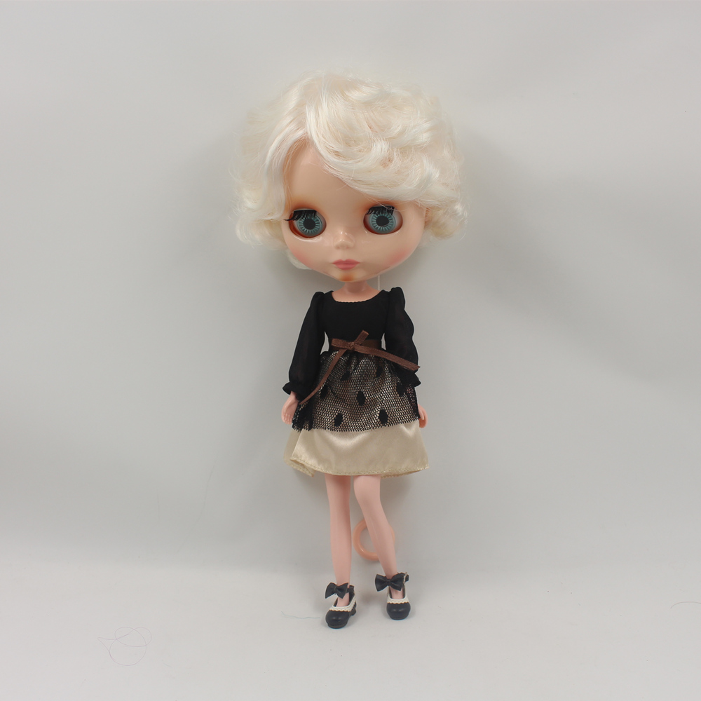 Nude Doll For Series No 70BL6025 Elegant golden hair Suitable For DIY Change Toy For Girls