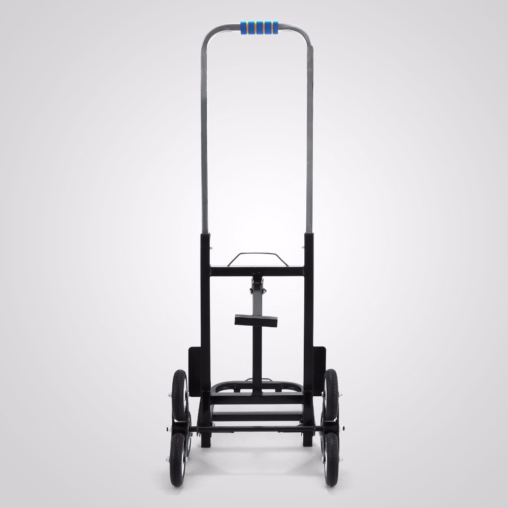 User-friendly Six Wheeled 190kg 6 Wheel Stair Climber Stair Climbing, Folding Hand trolley Climbing Cart Hand Trolley stair climbing sack trolley unique wheel designed with carbon steel material 6 wheeled stair climbing folding hand trolley