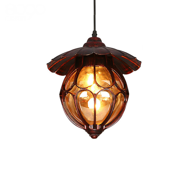 Vintage Country Bohemia Exotic Iron Glass Led E27 Pendnat Light For Dining Room Coffee Bar Restaurant Ac 80-265v 1820 loft crystal clear dysmorphism glass iron light ceiling lamp cafe dining bar aisle dining room restaurant coffee shop