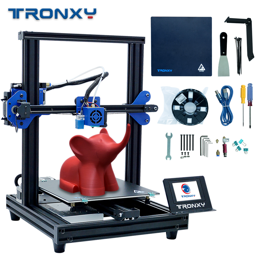 New Upgraded Tronxy XY 2 Pro Fast Assembly 3D Printer Auto leveling Continuation Print Power Filament