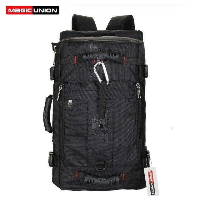 Magic union hombres bolsos hombres de la moda mochilas de viaje mochila multiusos del recorrido de los hombres de hombro de múltiples funciones