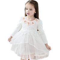Spring Lace Flower Girls Dresses Party Birthday Dress For Baby Girl Princess Children Clothing Toddler Girl