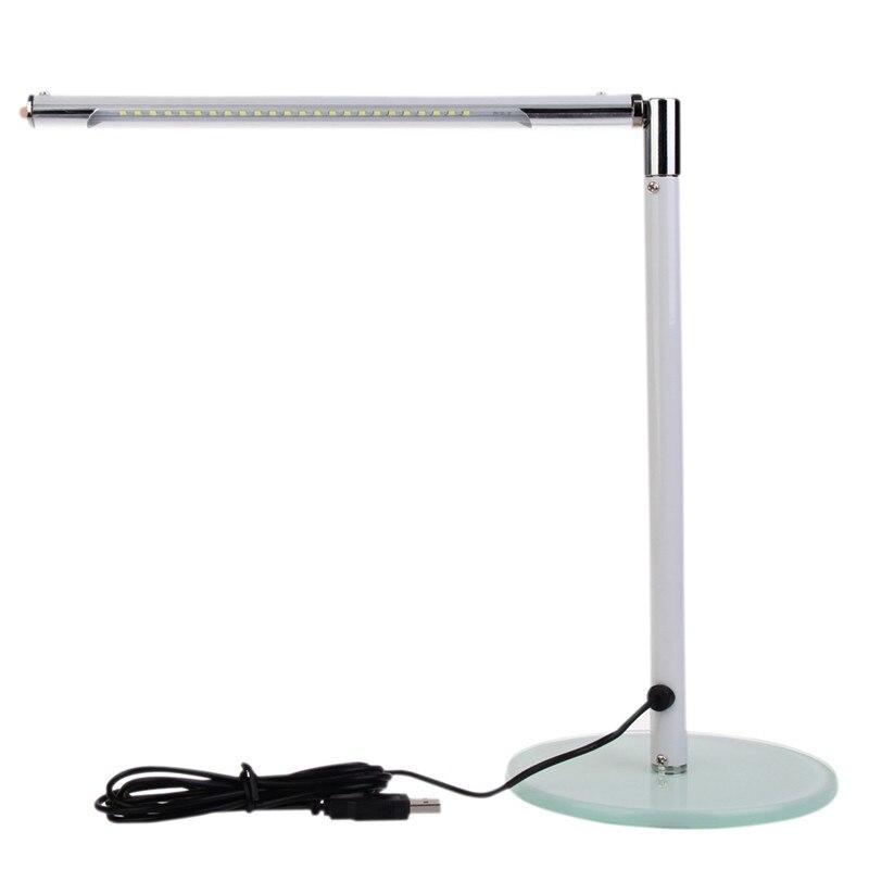 new simple 24 leds desk table lamp toughened glass base led lighting for home office white cheap office lighting