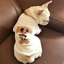 ccffd72b5f Primavera e verão roupas pet impressão rato de ouro camisa Schnauzer  Chihuahua T-shirt do