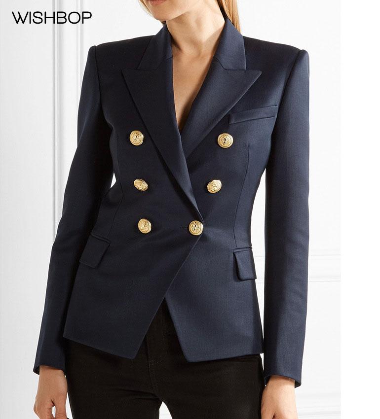 WISHBOP 2017 Autumn Fashion Woman Luxury New Navy Blazer ...