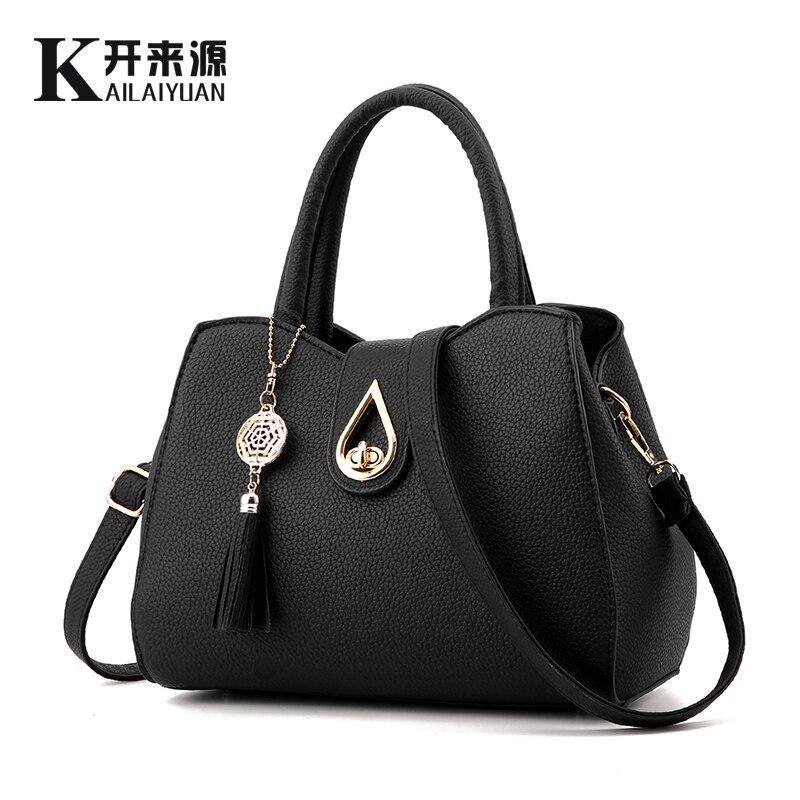 KLY 100% Genuine leather Women handbag 2019 New Fashion handbag Crossbody Shoulder Handbag women messenger bags Water design
