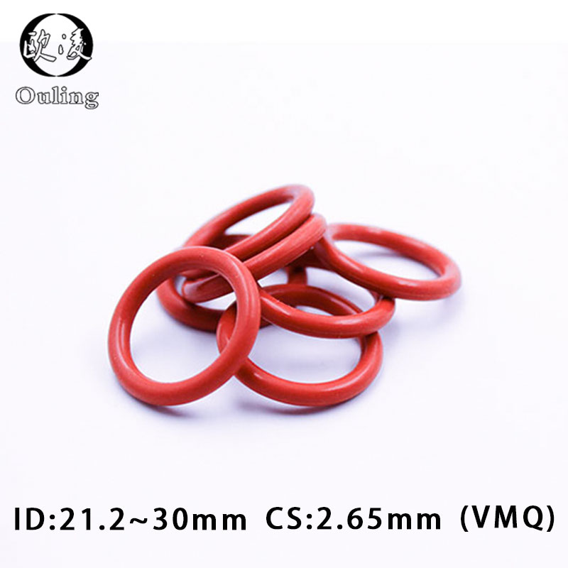 uxcell 10 Pcs Red Silicone O Ring Oil Seals Gaskets Washers 75mm x 2mm