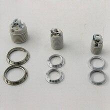 1 шт./лот E27 E14 E12 патрон лампы с металлическим кольцом, керамика и фарфор держатель лампы Высокое качество