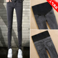 Autumn and winter wear pants Maternity Pants maternity winter Pants Plus abdominal cashmere thickened Maternity Jeans