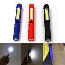 Портативный мини-ручка светильник рабочий инспекционный фонарь COB светодиодный Многофункциональный ремонтный светильник-вспышка ручной фонарь с магнитом AAA