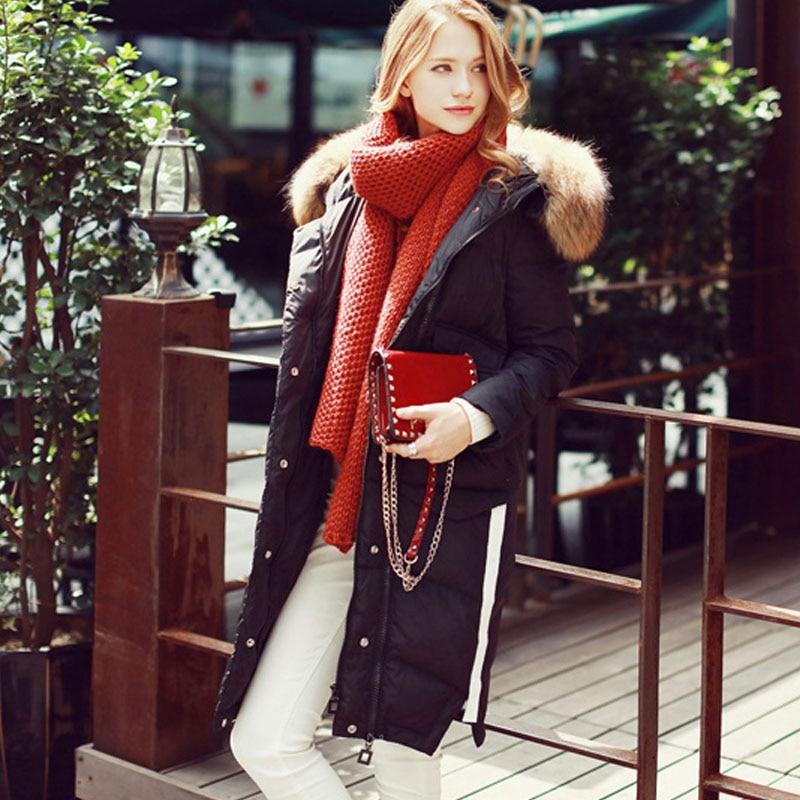 Canard Blanc Parka Veste Pour Laveur 2018 Parkas Nouvelle Noir D'hiver Femmes Marque De Réel Naturel Rur Femelle Duvet Raton Grand Outwear bv6gYf7y