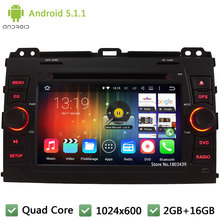 Quad core Android 5.1.1 7″ HD 1024*600 Car DVD Player Radio Stereo Audio Screen DAB+ For Toyota Land Cruiser Prado 120 2002-2009