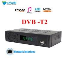 Vmade najnowszy odbiornik naziemny full HD cyfrowy DVB T2 8939 obsługuje H.264/HEVC, przewodowy dostęp do internetu Set top box Media grać