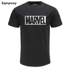 Eqmpowy 2017 Brand Marvel t Shirt men tops tees Top quality cotton short sleeves Casual men tshirt marvel t shirts men clothing