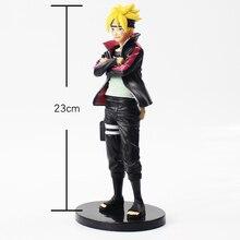 23cm Naruto Uzumaki Boruto action figure model with black base anime toy