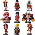 9 pçs/set filme de ação pedaço figuras Anime PVC brinquedos figuras coleção brinquedos AnnO00457A