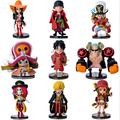 9pcs/set Film One Piece Action Figures Anime PVC brinquedos Collection Figures toys AnnO00457A