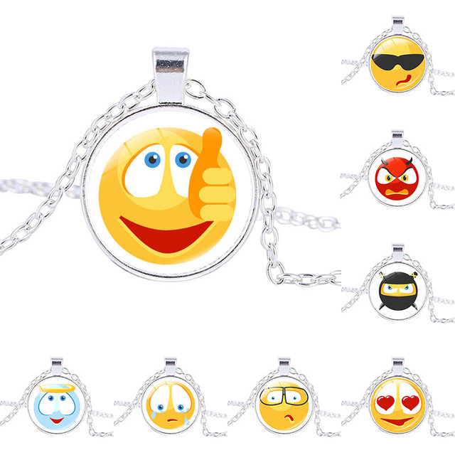 Aliexpress buy perfect gift interesting chat smiley face interesting chat smiley face facial expression necklace handmade jewelry pendants smiley face pendant aloadofball Image collections