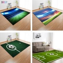 11 סוגים כדורגל שדה 3D מודפס גדול שטיחים כדורגל שטיחים לסלון חדר ילדים חדר המגרש סלון אזור שטיח מחצלת רך פלנל