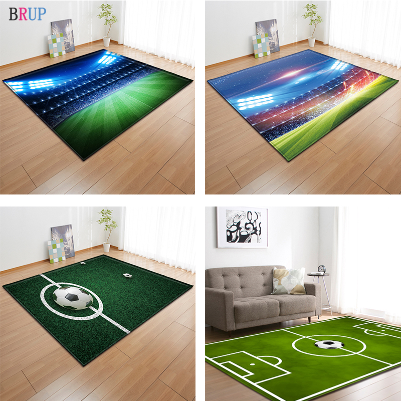 11 Kinds Football Field 3D Printed Large Carpets Football Rugs For Living Room Kids Room Pitch Parlor Area Rug Mat Soft Flannel