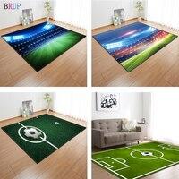 Tapete de futebol estampado 3d  tapete grande com estampa 3d de 11 tipos para sala de estar  crianças  sala de estar  tapete de sala flanela macia