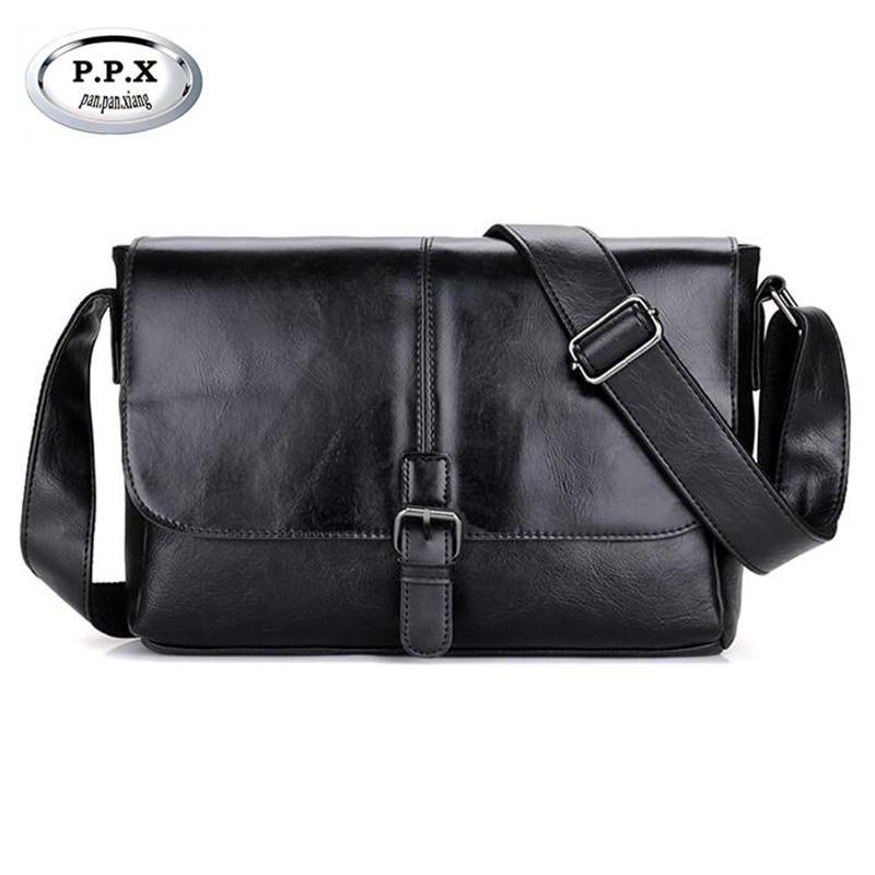 P.P.X Luxury Leather Mens Shoulder Bag Casual Small Flap Male Messenger Bags Brand Business Mens Briefcase Handbags M688