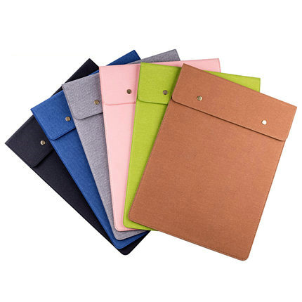 Office Business Leather Document Bag A4 Important Contract File Organizer Bag For Documents