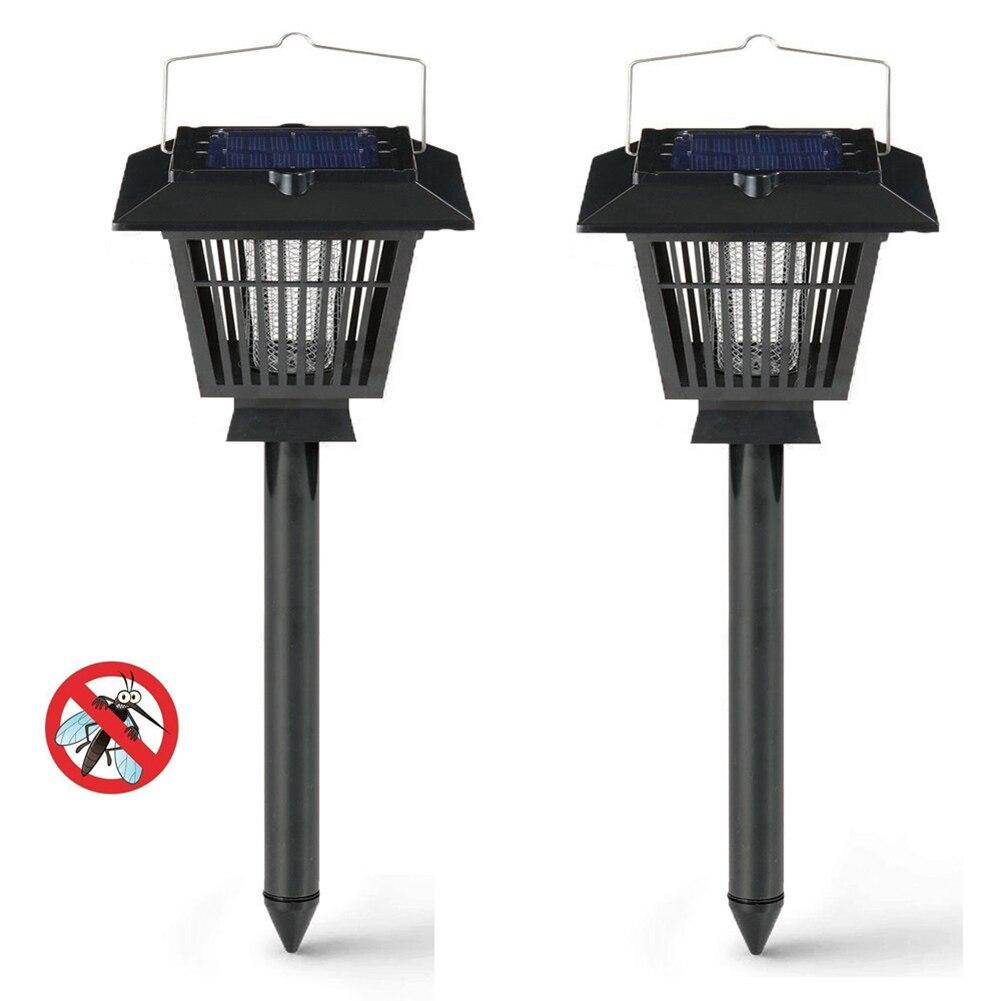 2 шт./лот Anti Mosquito светодиодный светильник насекомых-вредителей мухобойка убийца захвата Водонепроницаемый Солнечный свет открытый