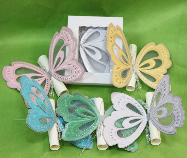 Luxury Butterfly Birthday Party Invitations for Kids Scroll Blank – Elegant Butterfly Wedding Invitations