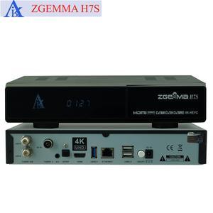 5pcs/lot 4K UHD Kodi TV Box&Multistream Decoder ZGEMMA H7S Ci+ Ultra CPU Dual Core E2 QTStalker DVB-S2X+2*DVB-T2/C Triple Tuners