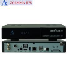 2pcs/lot 4K UHD Zgemma H7S 2xDVB-S2X+DVB-T2/C HEVC H 265 4K satellite  receiver Linux Enigma 2 IPTV BOX