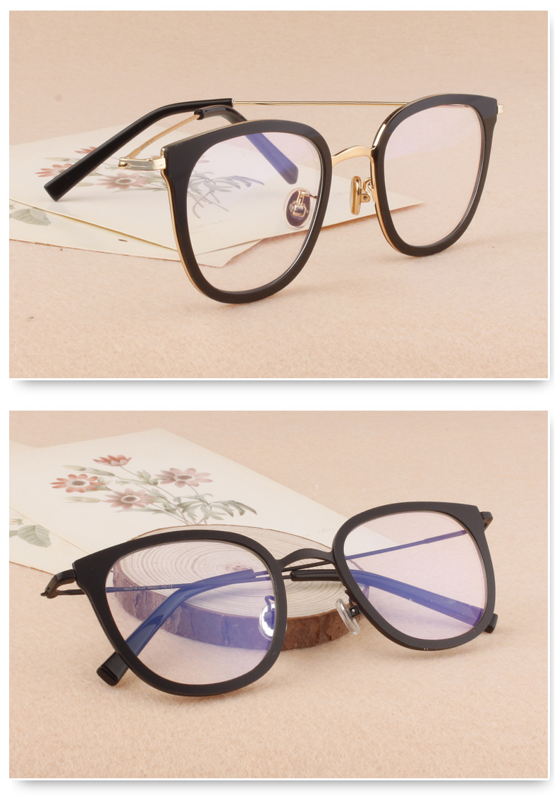 5571a7d27333 New Fashion Retro Women Metal Eyeglasses Full Rim Female Big Plastic Frame  Prescription Eye Glasses Eyewear Rxable 22218-in Eyewear Frames from  Apparel ...