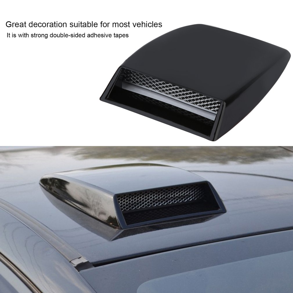 11in Universal Car Hood decorative Air Flow Intake Scoop Turbo Bonnet Vent Cover