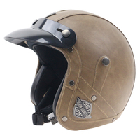 100% handmade motorcycle helmet leather cover cafe racer style helmet vintage style motorbike helmet Every rider affordable