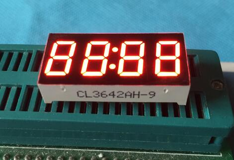 10PCS x 0.36 inches Red With Clock Common Cathode/ Anode 4 Digital Tube LED Display Module