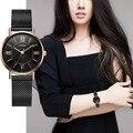 SINOBI Neue Ankunft Klassische Frauen Uhren Schwarz/Goldene Luxus Einfache Edelstahl Armband Uhr Damen Armbanduhr Reloj Mujer