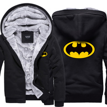 2016 Superman Hoodies Warme Liner Die Flash Männlichen Mantel Jacke Batman Hoodies Winter Männer Dicke Superman lässige Sweatshirts Blazer