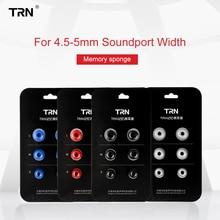 Trn 3 pares (6pcs) fones de ouvido intra auricular, t400, fones de ouvido, espuma de memória, isolamento de ruídos para trn vx m10 ca16