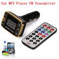 Kit Carro MP3 Player Transmissor FM Sem Fio Modulador USB SD MMC TF Remoto LCD atacado