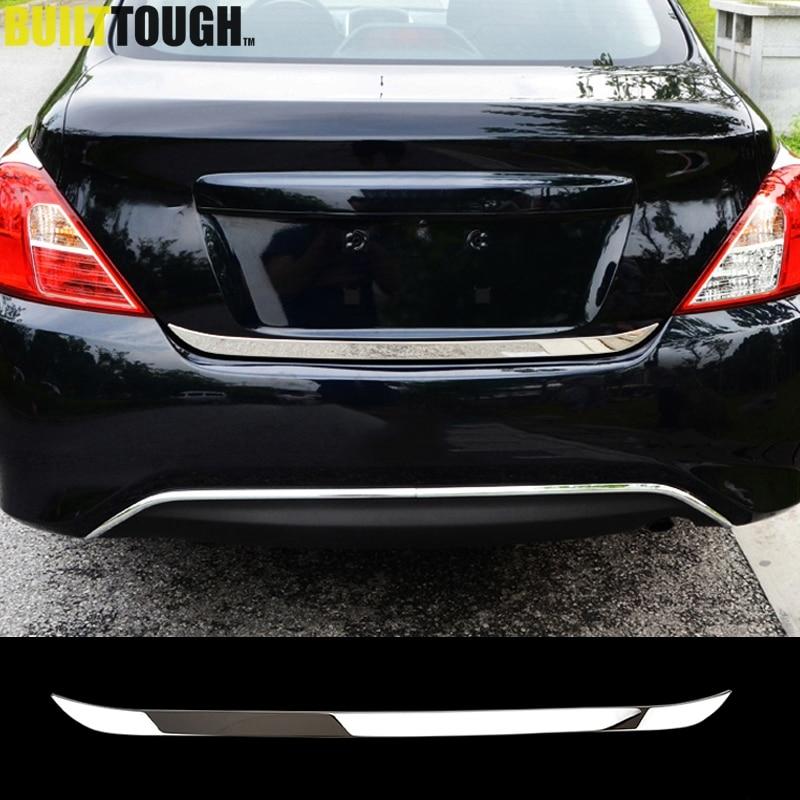 Accessory Chrome Rear Trunk Molding Cover Trim For 2012-2018 Nissan Versa Sedan